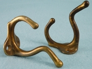 Brass plated cast iron hook (8 available) (1520)