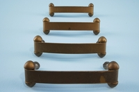 SET of 4 brass drawer handles, circa 1940s