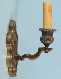 PAIR brass plated single candle sconces <NOBR>(ca. 1930s)</NOBR>