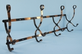 Brass plated wall mount coat rack <NOBR>(ca. 1910s)