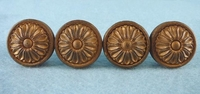 SET OF 4 gold-painted wooden knobs (1021)