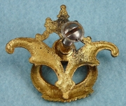 Single plated cast brass drawer pull, circa 1920s