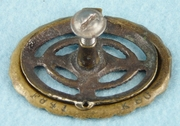 SET of 10 cast brass drawer pulls (6 large, 4 small), circa 1910s