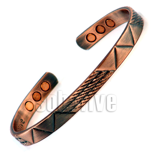 Magnetic Copper Bangle Cuff Bracelet