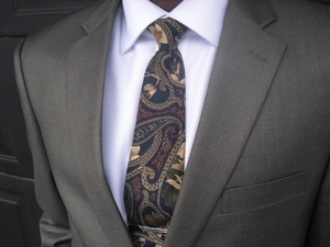 Pewter 2 button suit (view#3)  42r