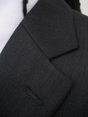 Charcoal 2 button suit (view#3)