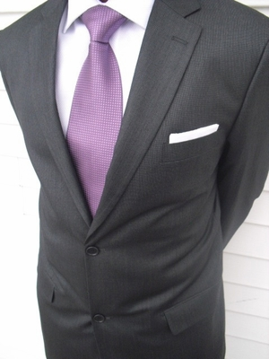 Charcoal 2 button suit (View#4)