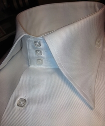 Axxess White High Collar Shirt (Now in French or Button cuff)