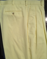 Relaxed Fit Dress Pants -Yellow