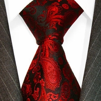 Lorenzo Red Black Paisley Necktie