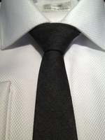 Black Denim Slim Necktie