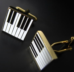 White Piano Cufflinks