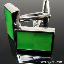 Lime Squared Cufflinks