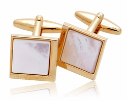 Gold Pearl cufflinks