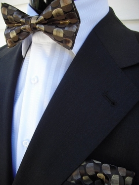 MorCouture Bow Tie Hanky set10