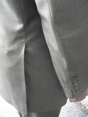 Pewter 2 button suit (view#2)  42R