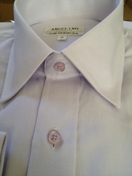 Angelino Light Grey Twill Dress Shirt M (16)