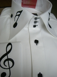 Axxess Musical Note High Collar Shirt