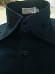 Angelino Bello Navy High Collar Shirt