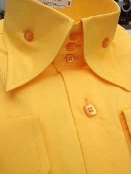 Angelino Bello Yellow High Collar Shirt 18.5 (4XL)