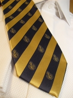 Gold Navy Crest Stripe