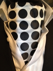 White Black Big Spot Ascot and Matching Hanky