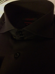 Axxess Black Spread High Collar Shirt