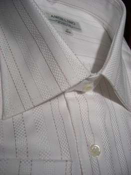 Angelino Red Pinstriped woven shirt