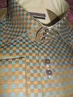 Axxess Multi Squared High Collar Shirt size L(16- 16.5)
