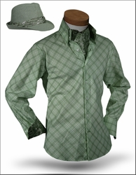 Angelino Yuma Green shirt with Ascott and Fedora