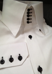 MorCouture 5 Button High Collar Shirt (Custom/One Fabric)
