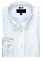 MorCouture White Button Down Cotton Dress Shirt