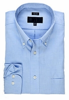 MorCouture Blue Button Down Cotton Dress Shirt