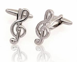 Backordered--Treble Clef cufflinks
