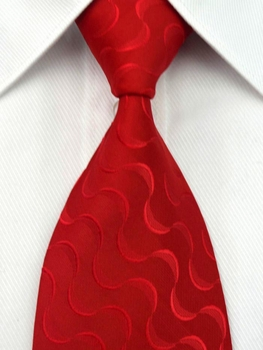 Red Swirls Silk Necktie