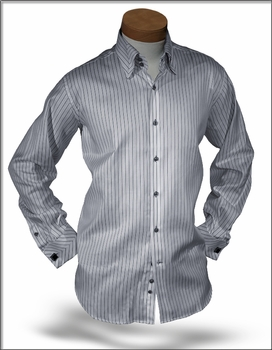 Angelino DST Grey Stripe shirt size 20