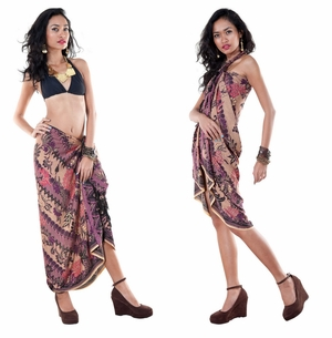 Sarong With Traditional Motif Purple - Parang Rusak