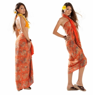Paisley Sarong in Orange