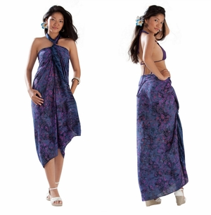 Small Paisley Print Sarong in Navy Blue