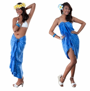 Floral Top Quality Sarong in Blue