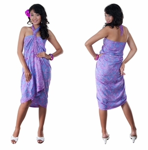 Floral Top Quality Sarong in Lavender