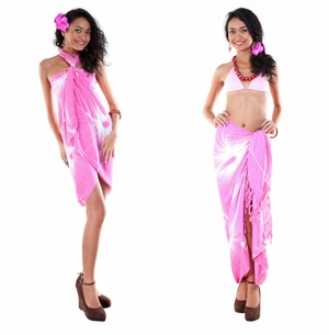 Big Hibiscus Floral Sarong in Pink
