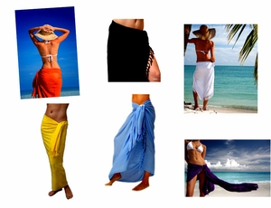 Solid Sarongs Assorted