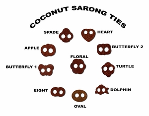 Coconut Sarong Ties - Set of 12