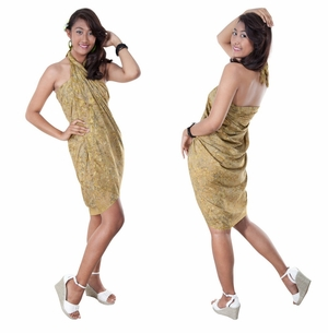 Abstract Top Quality Sarong in Beige