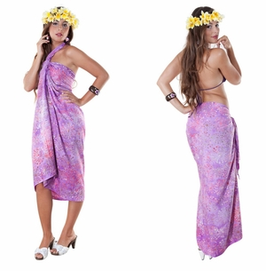 Abstract Top Quality Sarong in Purple