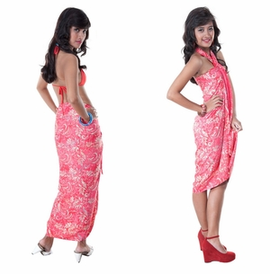 Abstract  Top Quality Sarong in Pink