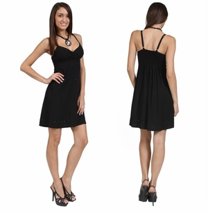 Womens Mini Dress / Short Dress in Black