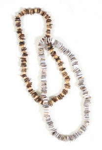 Shell Chips Stretch Necklace - Assorted (Set of 2)