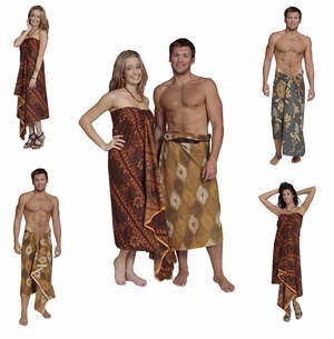 """Traditional Fringeless"" Cotton Assorted Sarongs"